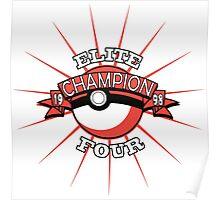 Elite Four Champion Red Poster