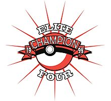 Elite Four Champion Red Photographic Print