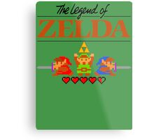The Legend of Zelda Ocarina of Time 8 bit Metal Print