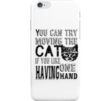 Funny Cat Poster iPhone Case/Skin
