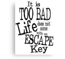 Escape Key Canvas Print