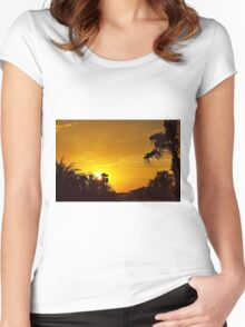 The Golden Hour Women's Fitted Scoop T-Shirt
