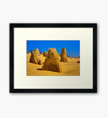 Pinnacle Desert HDR 2 Framed Print