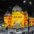 Flinders Street Station, Melbourne by ltassone