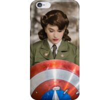 Tanya Wheelock as Peggy Carter (Photography by Steven Sze) iPhone Case/Skin