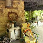 Old Chair, Lavendula Farm, Daylesford, Victoria  by Roz McQuillan