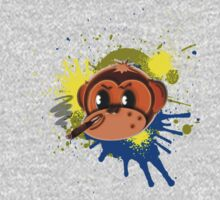 cigar smokin' monkey head splat by geot