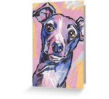 Italian Greyhound Dog Bright colorful pop dog art Greeting Card
