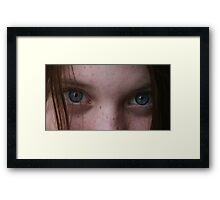 Biscuits Eyes Framed Print