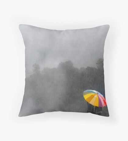 Under My Umbrella Throw Pillow