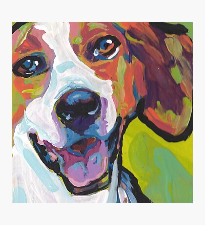 American Foxhound Bright Colorful Pop Dog Art Photographic Print