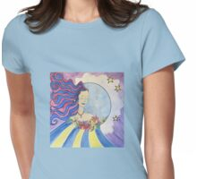 Becoming one with the Moon  Womens Fitted T-Shirt