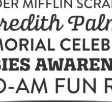 The Office Dunder Mifflin - Rabies Awareness Fun Run Sticker