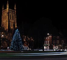 Worcester Cathedral, Christmas 2013 by Lissywitch