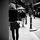 Waiting in Degraves Street, Melbourne by Elana Bailey