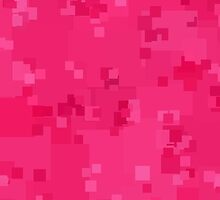 Hot Pink Square Pixel Color Accent by SaraValor