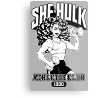 She-Hulk Athletic Club  Metal Print