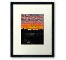 Sunrise - Manning River, Karaak Flat.  Framed Print