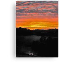 Sunrise - Manning River, Karaak Flat.  Canvas Print
