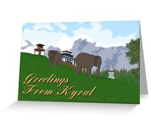 Greetings from Kyrat Greeting Card