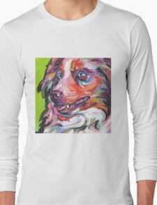 Australian shepherd Aussie Bright colorful Pop Art Long Sleeve T-Shirt