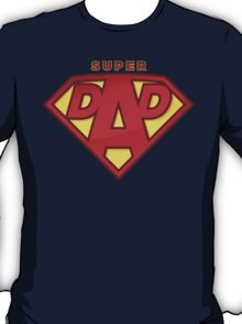 "Happy Father's Day celebrations concept ""SUPERDAD"" logo T-Shirt"