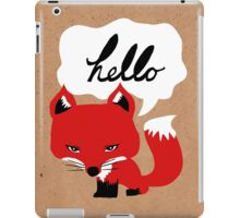 The Fox Says Hello iPad Case/Skin