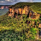 Awe - Govetts Leap and Govetts Leap Falls - Blue Mountains World  Heritage Area - The HDR Experience by Philip Johnson