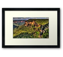 Awe - Govetts Leap and Govetts Leap Falls - Blue Mountains World  Heritage Area - The HDR Experience Framed Print