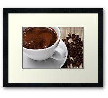 Coffee Scum Framed Print