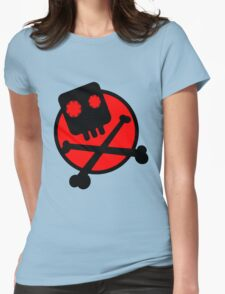 Funny skull and bones Womens Fitted T-Shirt