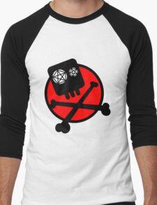 Funny skull and bones Men's Baseball ¾ T-Shirt
