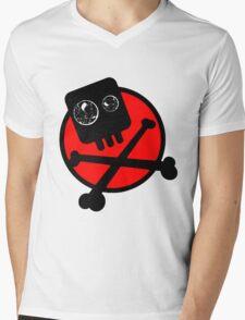 Funny skull and bones Mens V-Neck T-Shirt