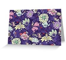The Garden Party - blueberry tea version Greeting Card