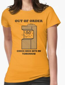 Litwak's Arcade Out of Order Sign Womens Fitted T-Shirt