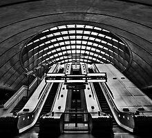 London - cannary Wharf Station by Sebastian Wuttke