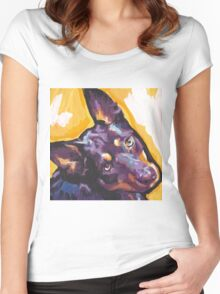 Australian Kelpie Bright Colorful Pop Art Women's Fitted Scoop T-Shirt