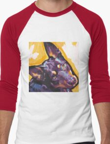 Australian Kelpie Bright Colorful Pop Art Men's Baseball ¾ T-Shirt