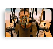 Mad Max Word Art Canvas Print