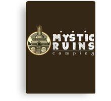 MYSTIC RUINS: camping Canvas Print