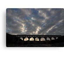 Pont du Gard - Roman Aquaduct Canvas Print