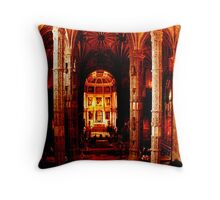 Magestic hall Throw Pillow