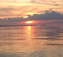 Sunset on Lake Erie by Katherine Buckner