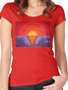 Pacifica original painting Women's Fitted Scoop T-Shirt