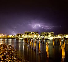 Port River on a Stormy Night  by Jamie  Druitt