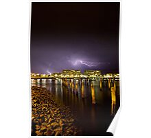 Port River on a Stormy Night  Poster