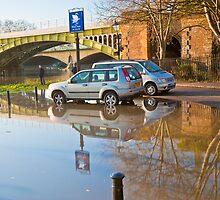 Flooded Carpark: Richmond. London. by DonDavisUK