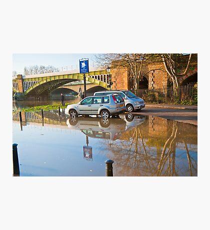 Flooded Carpark: Richmond. London. Photographic Print