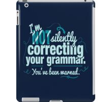 Silently Correcting Your Grammar iPad Case/Skin