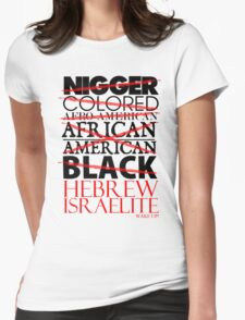 HEBREW ISRAELITE WHT Womens Fitted T-Shirt